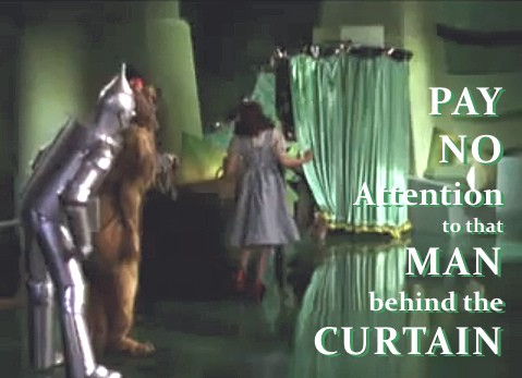 Image result for wizard of oz BEHIND THE CURTAINS