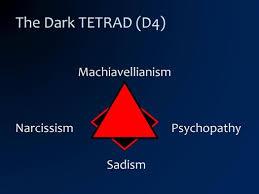 Image result for dark tetrad sadism